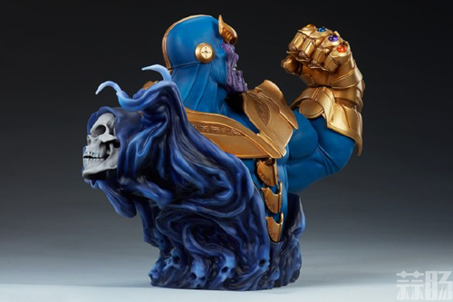 Sideshow新品:10.5寸漫威系列- Thanos/灭霸 半身胸像 模玩 第4张