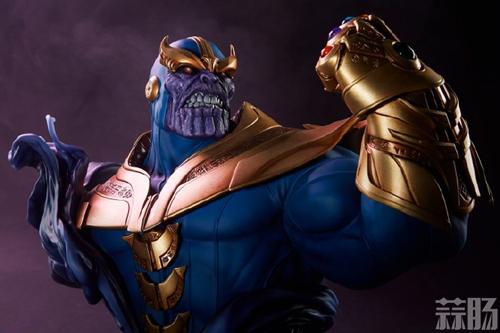 Sideshow新品:10.5寸漫威系列- Thanos/灭霸 半身胸像 模玩 第6张