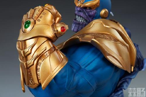 Sideshow新品:10.5寸漫威系列- Thanos/灭霸 半身胸像 模玩 第5张