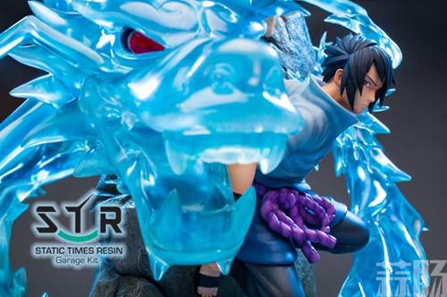 《火影忍者》佐助战斗雕像 大招麒麟演绎雷遁极致 模玩 第1张