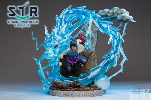 《火影忍者》佐助战斗雕像 大招麒麟演绎雷遁极致 模玩 第2张