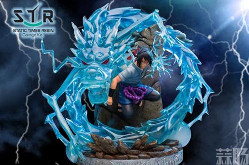 《火影忍者》佐助战斗雕像 大招麒麟演绎雷遁极致 模玩 第3张