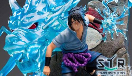 《火影忍者》佐助战斗雕像 大招麒麟演绎雷遁极致 模玩 第4张