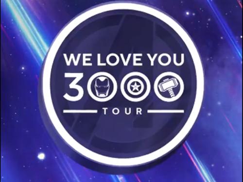 """漫威影业宣布将开启""""我们爱你3000""""巡回见面会"""