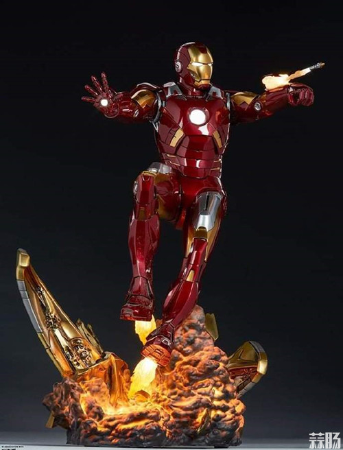 Sideshow Collectibles 复仇者联盟 Iron Man Mark VII Maquette 1:4 雕像 复仇者联盟 钢铁侠 Sideshow Collectibles 模玩  第2张