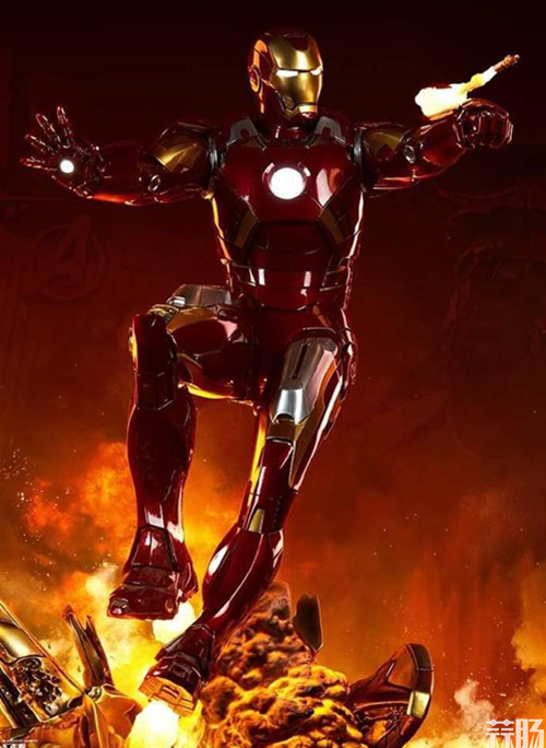 Sideshow Collectibles 复仇者联盟 Iron Man Mark VII Maquette 1:4 雕像 模玩 第4张