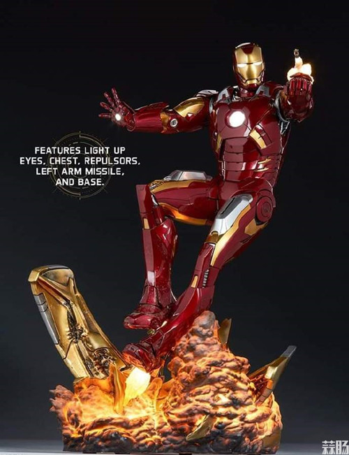 Sideshow Collectibles 复仇者联盟 Iron Man Mark VII Maquette 1:4 雕像 复仇者联盟 钢铁侠 Sideshow Collectibles 模玩  第3张