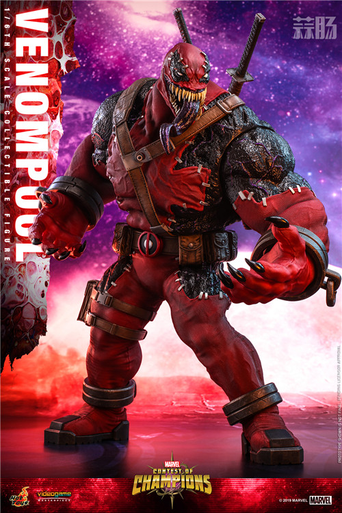 Hot Toys公布《漫威:超级争霸战》Venompool 1:6珍藏人偶 死侍 毒液 hottoys HT 漫威:超级争霸战 漫展  第3张