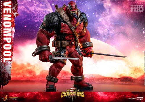 Hot Toys公布《漫威:超级争霸战》Venompool 1:6珍藏人偶 死侍 毒液 hottoys HT 漫威:超级争霸战 漫展  第1张
