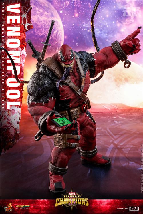 Hot Toys公布《漫威:超级争霸战》Venompool 1:6珍藏人偶 死侍 毒液 hottoys HT 漫威:超级争霸战 漫展  第2张