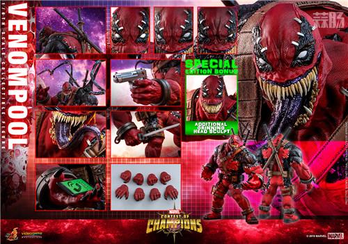 Hot Toys公布《漫威:超级争霸战》Venompool 1:6珍藏人偶 死侍 毒液 hottoys HT 漫威:超级争霸战 漫展  第6张