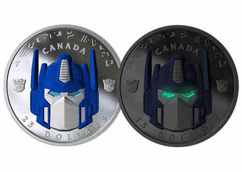 加拿大推出变形金刚纪念币 擎天柱大哥成为封面人物