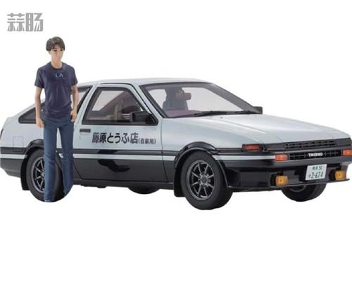 京商推出1/18《头文字D新剧场版》 AE86车模 带主角藤原拓海 汽车模型 第1张