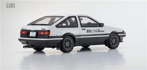 京商推出1/18《头文字D新剧场版》 AE86车模 带主角藤原拓海 汽车模型 第3张