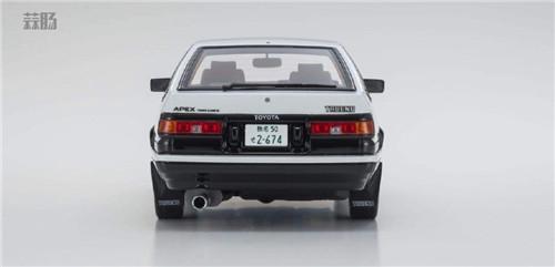 京商推出1/18《头文字D新剧场版》 AE86车模 带主角藤原拓海 汽车模型 第5张