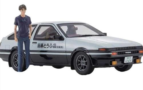京商推出1/18《头文字D新剧场版》 AE86车模 带主角藤原拓海