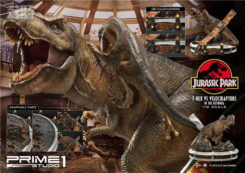 Prime 1 Studio 公布《侏罗纪公园 》霸王龙对决迅猛龙雕像 霸王龙 侏罗纪公园 P1S Prime 1 Studio 模玩  第3张