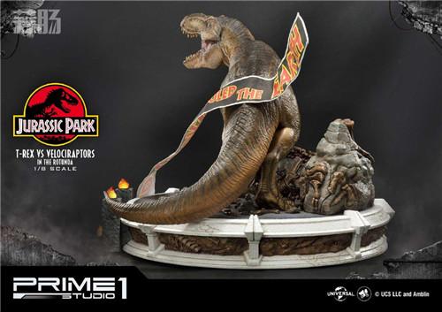 Prime 1 Studio 公布《侏罗纪公园 》霸王龙对决迅猛龙雕像 霸王龙 侏罗纪公园 P1S Prime 1 Studio 模玩  第6张