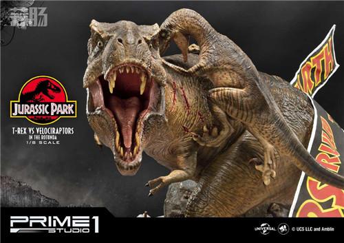 Prime 1 Studio 公布《侏罗纪公园 》霸王龙对决迅猛龙雕像 霸王龙 侏罗纪公园 P1S Prime 1 Studio 模玩  第7张
