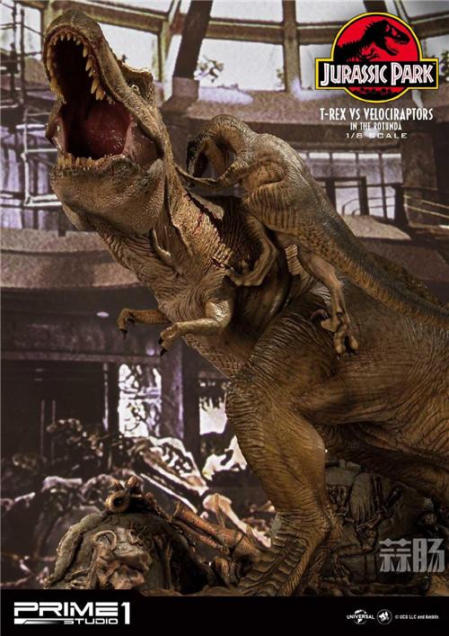 Prime 1 Studio 公布《侏罗纪公园 》霸王龙对决迅猛龙雕像 霸王龙 侏罗纪公园 P1S Prime 1 Studio 模玩  第8张