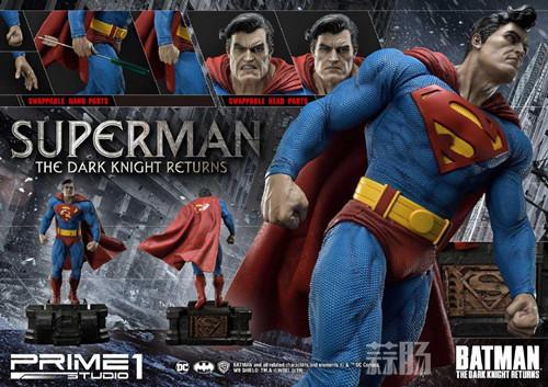Prime 1 Studio 发布1:3《黑暗骑士归来》超人雕像 P1S 蝙蝠侠 超人 黑暗骑士归来 Prime 1 Studio 模玩  第3张