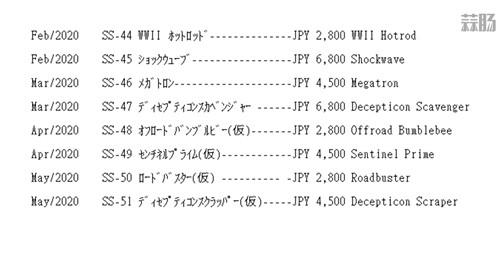 TakaraTomy泄露变形金刚工作室系列SS-45至50玩具发售日 变形金刚 第1张