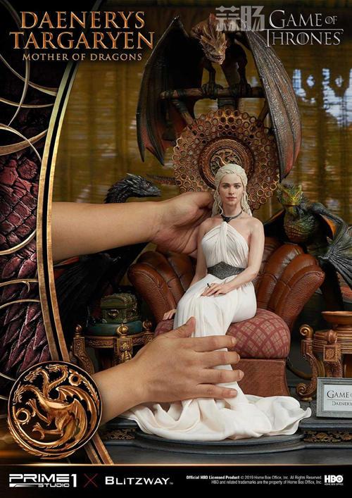 Blitzway和P1S联名发布《权利的游戏》龙妈雕像 定价超8000元 模玩 第7张
