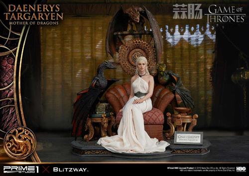Blitzway和P1S联名发布《权利的游戏》龙妈雕像 定价超8000元 模玩 第9张