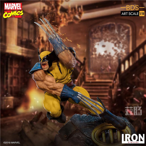 Iron Studios发布《X战警》金刚狼战斗场景雕像 模玩 第1张