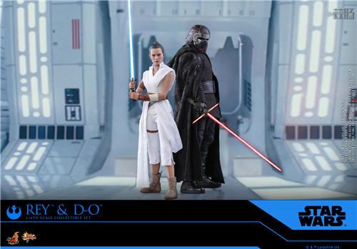 Hot Toys《星球大战:天行者崛起》蕾伊 & D-O 1:6比例珍藏人偶套装 模玩 第1张