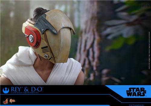 Hot Toys《星球大战:天行者崛起》蕾伊 & D-O 1:6比例珍藏人偶套装 模玩 第5张