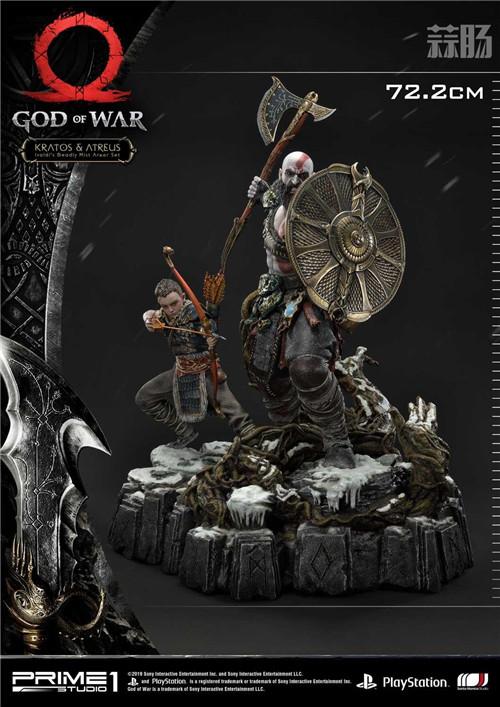 P1S推出《战神》奎托斯与阿特柔斯1:4雕像 模玩 第8张