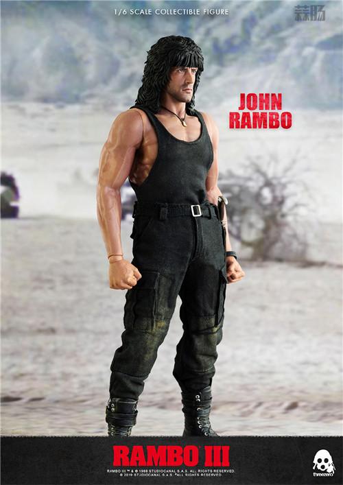 ThreeZero 发布《第一滴血3》1/6 比例约翰·兰博人偶 模玩 第4张