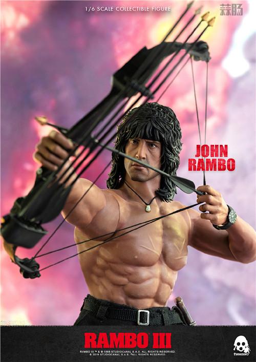 ThreeZero 发布《第一滴血3》1/6 比例约翰·兰博人偶 模玩 第8张