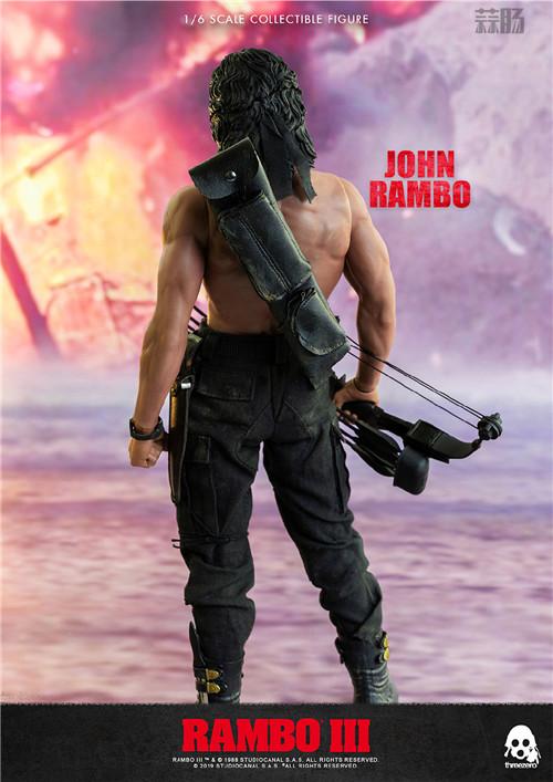 ThreeZero 发布《第一滴血3》1/6 比例约翰·兰博人偶 模玩 第9张