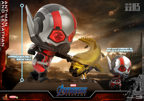 Hot Toys推出漫威《复仇者联盟4: 终局之战》蚁人及利维坦COSBABY (L)珍藏人偶套装 模玩 第1张