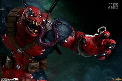 PCS与 Sideshow合作推出《MARVEL 超级争霸战》 1/3 比例毒液死侍雕像 模玩 第1张