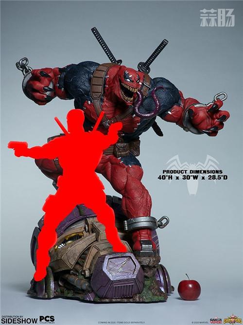 PCS与 Sideshow合作推出《MARVEL 超级争霸战》 1/3 比例毒液死侍雕像 模玩 第6张