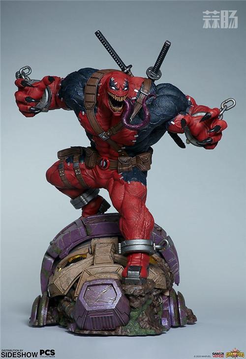PCS与 Sideshow合作推出《MARVEL 超级争霸战》 1/3 比例毒液死侍雕像 模玩 第7张