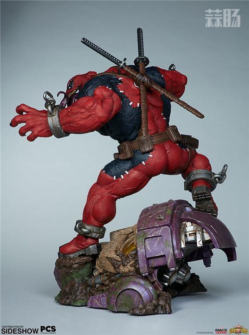 PCS与 Sideshow合作推出《MARVEL 超级争霸战》 1/3 比例毒液死侍雕像 模玩 第8张