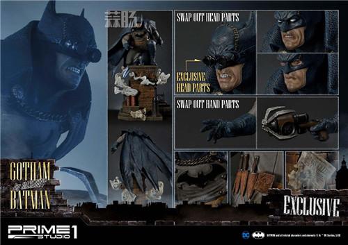 P1S发布1/5蝙蝠侠雕像 阿甘起源 DC 蝙蝠侠 P1S Prime 1 Studio 模玩  第9张