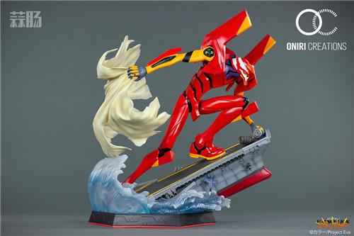 Oniri Creations《新世纪福音战士EVA》「二号机:初登场」雕像 二号机 新世纪福音战士 模玩  第4张