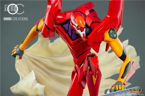 Oniri Creations《新世纪福音战士EVA》「二号机:初登场」雕像 二号机 新世纪福音战士 模玩  第7张