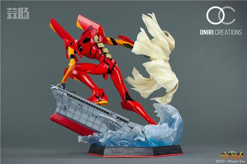 Oniri Creations《新世纪福音战士EVA》「二号机:初登场」雕像 二号机 新世纪福音战士 模玩  第6张
