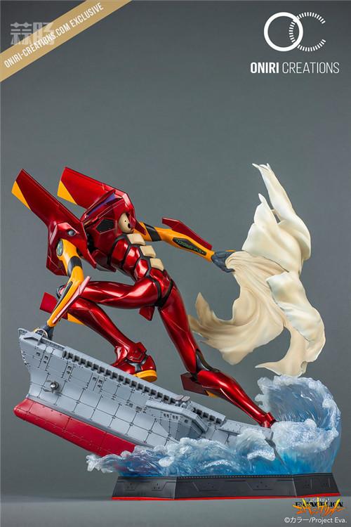 Oniri Creations《新世纪福音战士EVA》「二号机:初登场」雕像 二号机 新世纪福音战士 模玩  第10张
