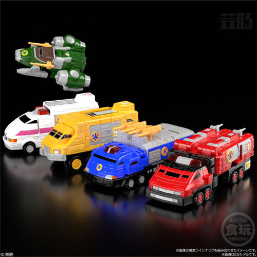 万代推出会员限定《救急战队GO GO V》组合机器人食玩 模玩 第5张