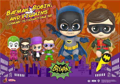Hot Toys电视剧《蝙蝠侠》正丶反角色化身COSBABY人偶登场