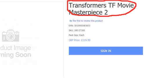英国零售商暗示变形金刚MPM新玩具 售价1057元人民币