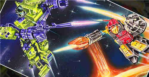 变形金刚G1玩具包装艺术家绘制大力神VS大力金刚版画