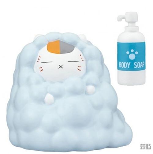 Takara Tomy推出《夏目友人帐》猫咪老师洗澡扭蛋 可爱爆表 模玩 第3张